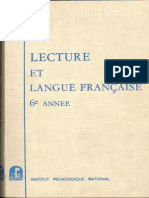 Lecture Et Langue Française 6e Annee - Algérie
