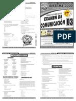 Examen 03 de Comunicación Verano 2014
