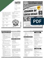Examen Ciencias Sociales VERANO 2014