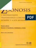 Zoonosis y Enfermedades Transmisibles Comunes Al Hombre y a Los Animales Clamidiosis, Rickettsiosis y Virosis