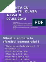 Sedinta Cu Parintii Clasa a IV a b1