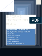 Informe de Agua Laguna de Paca