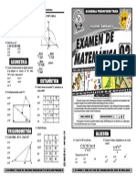 Examen de Matemática Ciclo Verano 2014