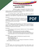 Reglamentación para la presentación de proyectos 2012.docx