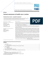 Context Awareness in Heath Care - A Review