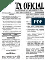 Decreto con Rango Valor y Fuerza de Ley de Reforma de la Ley de Reforma de la Ley de impuesto sobre alcohol y especies alcohólicas.