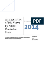 Case Study on Kotak Mahindra and ING Vysya Bank Amalgamation