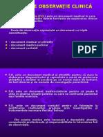 Foaia de Observatie Clinica Semiologie