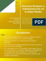 Introducción de Derecho Romano y de la Administración en la Edad Media. Presentación.