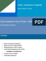 Oracle Application Server Oracle 9iAS Portal J2EE Integration