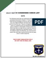 Condensed Checklist F 86F 35