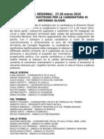 ELEZIONI  REGIONALI   27-28 marzo 2010   COMITATO DI SOSTEGNO PER LA CANDIDATURA DI ANTONINO OLIVERI