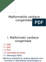 Curs 6 Pediatrie - Malformatiile Cardiace
