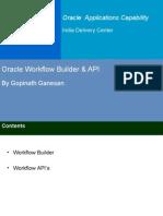 OracleWorkfow Builder API Gopinath