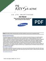 ATT SGH-i537 Galaxy S4 Active English User Manual