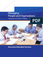 KSBL Executive Education on Managing People and Organisatins