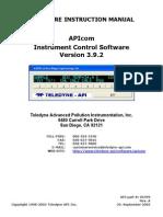 Manual Apicom392 Teledyne