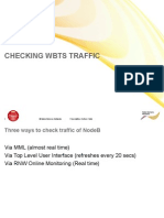 01 Checking WBTS Traffic