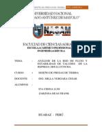 Analisis de Red de Flujo y Estabilidad de Talud Shullucocha