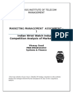 Indian Wrist Watch Industry- Competition Analysis of Market Leaders