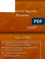 English for Specific Purposes
