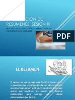 Elaboración de Resumenes Sesion III