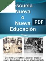 Escuela Nueva en la pedagogia
