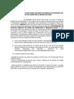 EDITAL Estagio Medico Em Geriatria e Gerontologia