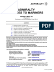 aDMIRALTY Notice to Mariners