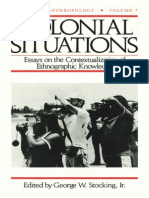 (History of Anthropology) George W. Stocking Jr.-colonial Situations_ Essays on the Contextualization of Ethnographic Knowledge-University of Wisconsin Press (1993) (2) (1)