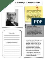 Le Sacre Du Printemps de Stravinsky