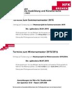 Termin Anmeldung Masterprojekt Ka Jazz Sose 2015 Und Wise 2015 2016 Aushang