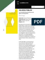 Volverse público | Caja Negra Editora