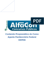 Alfacon Alexandre Agente Penitenciario Depen 1 Conteudo Programatico Professor Alfacon 1o Enc 20150123193219