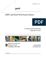 Pipeline Welded Seam Failures, by Keifer & Associates for the  U.S. DEPARTMENT OF TRANSPORTATION