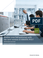 Realize Your Pontential With the New Version of SIMATIC PCS 7