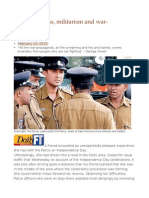 Police Kindness, Militarism and War-propaganda