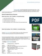 Booth Pameran- Booth Pop Up Counter - Meja Promosi