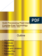 Gold recovery using cyanide free technology