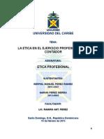 La Etica en El Ejercio Profesional Del Contador