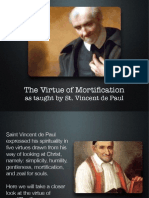 Virtue of Mortification as Taught by St. Vincent de Paul