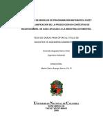 Desarrollo de Modelos de Programacion Matematica Fuzzy