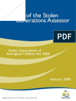 Report of the Stolen Generations Assessor