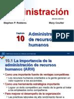 Cap 10 Administración de Recursos Humanos