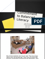 commitment to balanced literacy