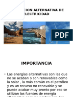 Generacion Alternativa de Electricidad Usat