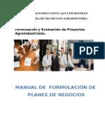 Manual de Formulación y Evaluación de Proyectos