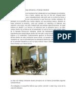 Diferencias Entre El Trabajo Artesanal y El Trabajo Industrial
