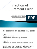 Correction of Measurement Error - Part 1 (1)