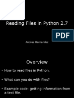 Python - How to read and manipulate files.